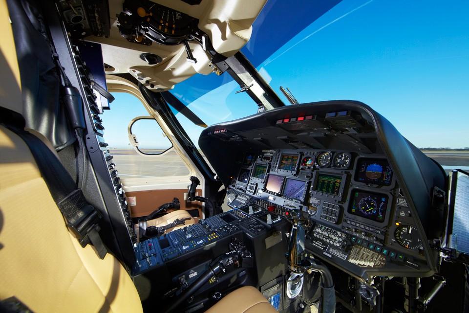 Sikorsky S76 Cockpit Stansted