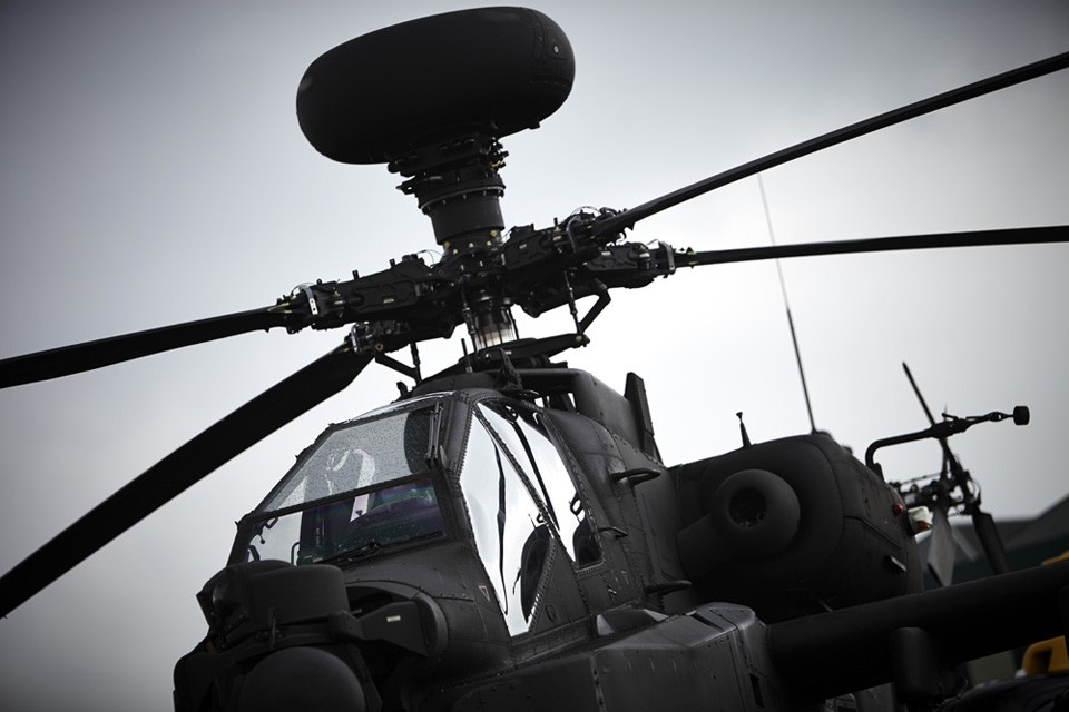 Boeing AH64 Apache Military Helicopter.