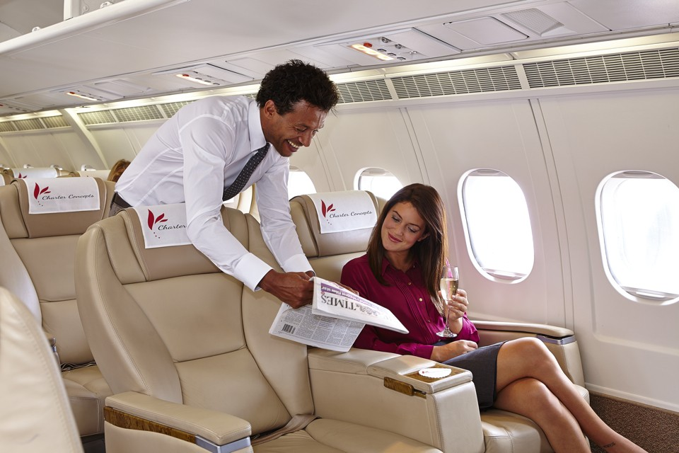 BAe 146 interior