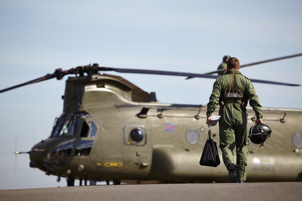 Vector Chinook test flight