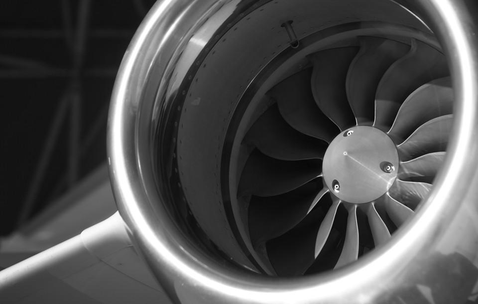 Embraer Phenom 100 Engine Close Up