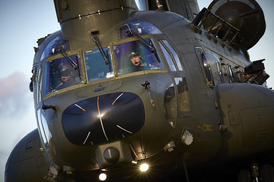 Military CH47 Chinook