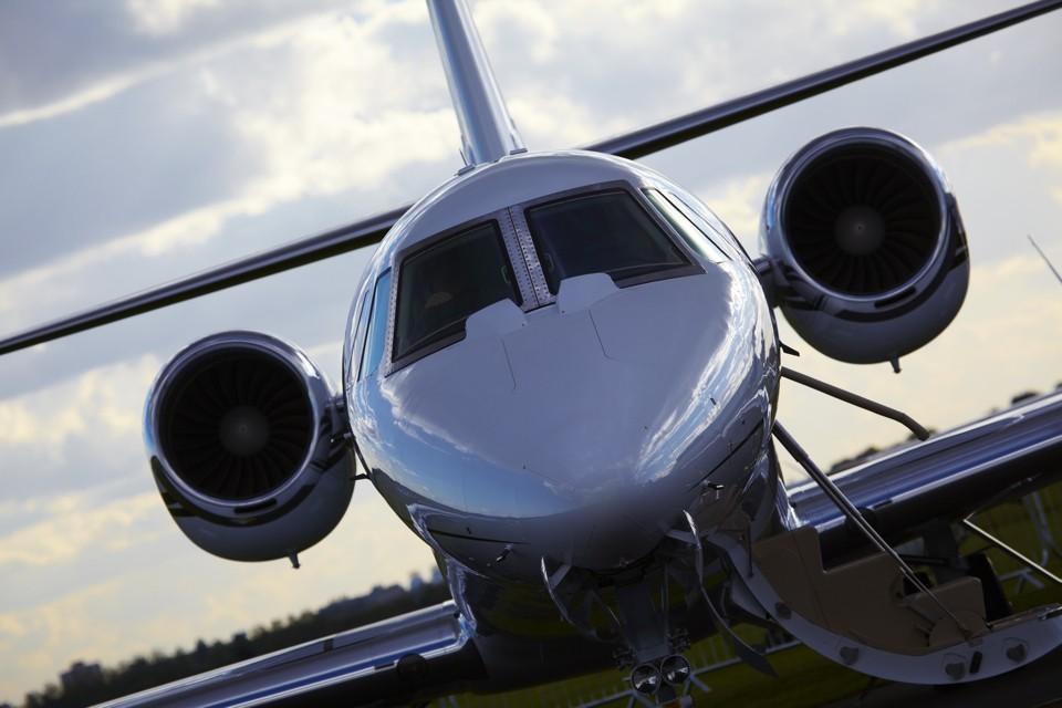 Cessna Citation XLS Moody sky