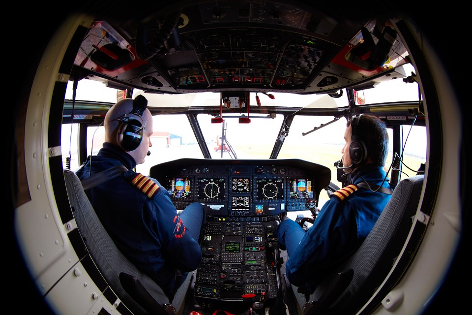 Aérospatiale Super Puma Cockpit