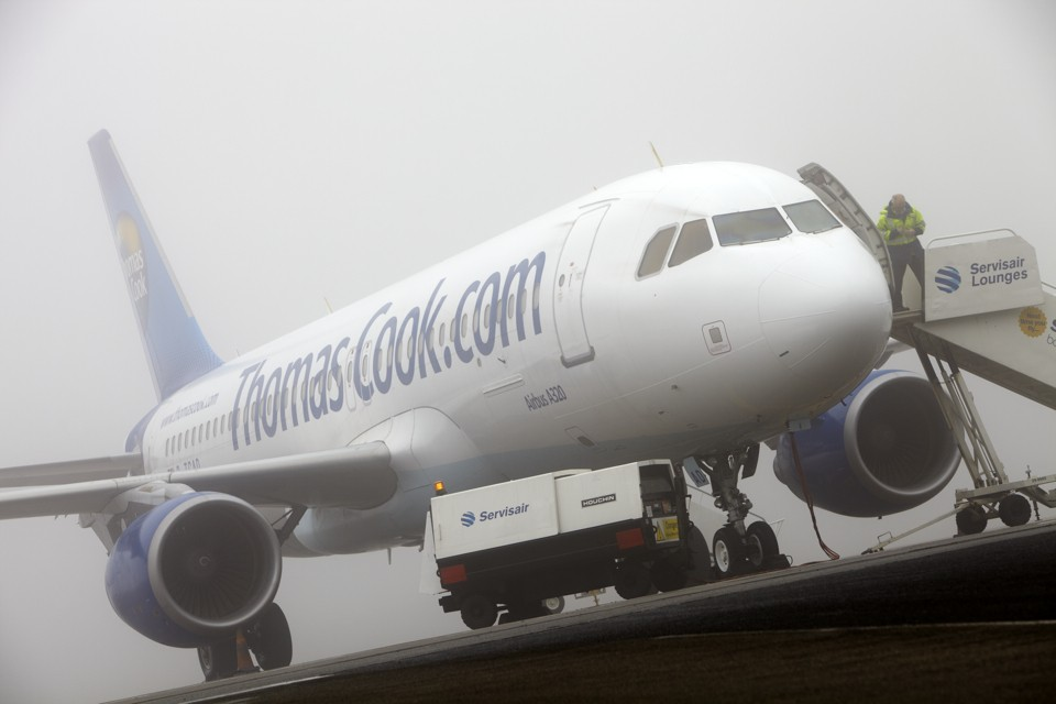 Airbus delayed by fog