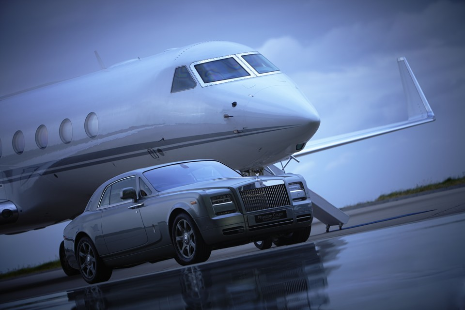Rolls Royce aviator collection and Gulfstream business jet