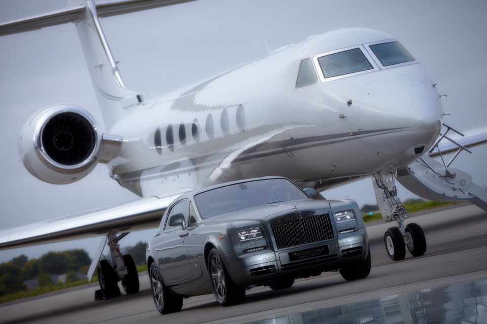 Rolls Royce and Gulfstream Arrival