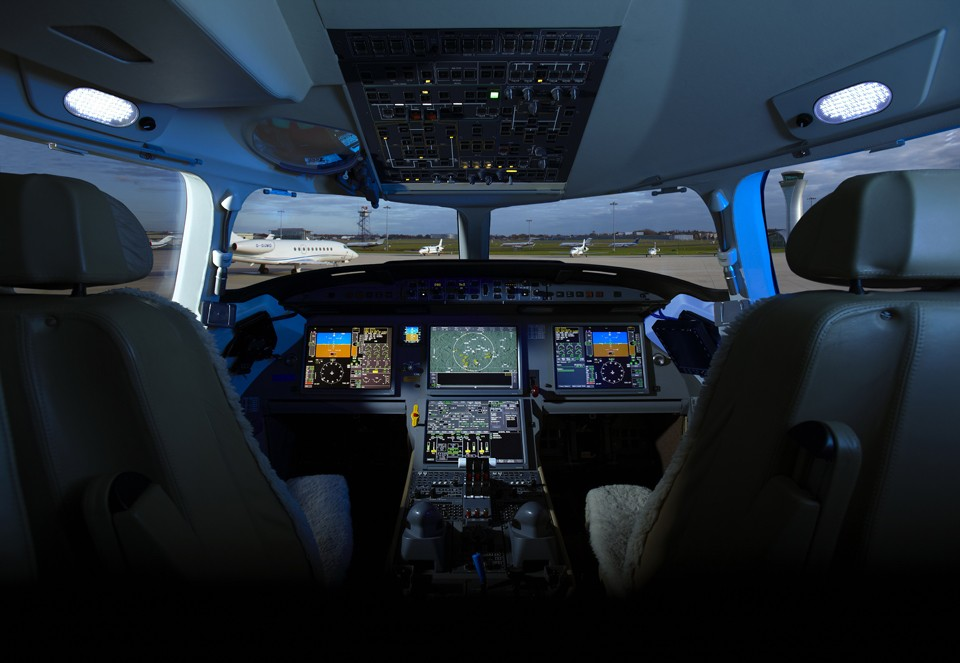 Bombardier Cockpit Farnborough