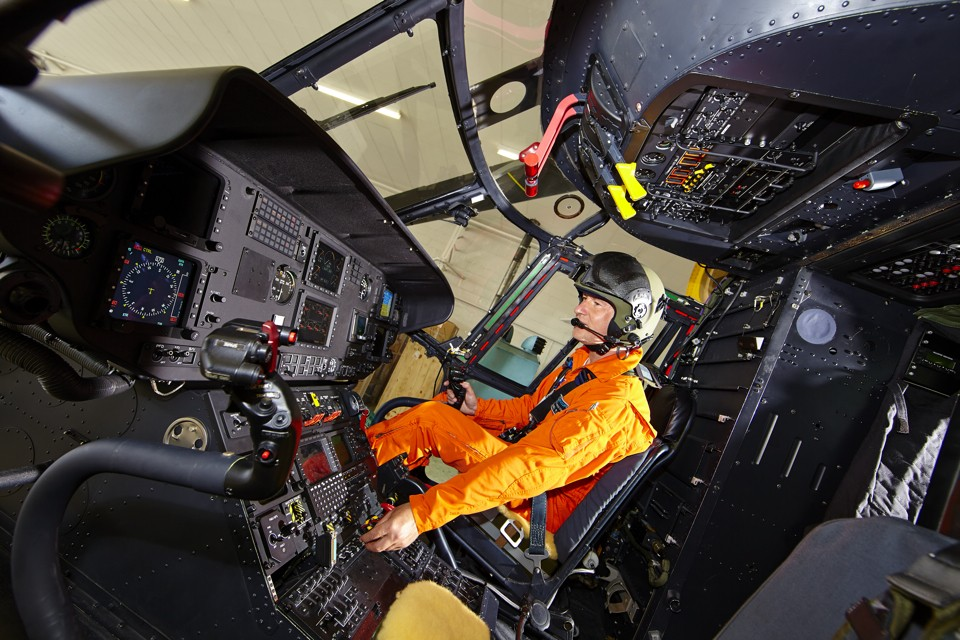 Super Puma Cokpit instrument check Oxford