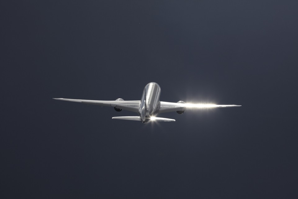 Boeing 787 Dreamliner climb out