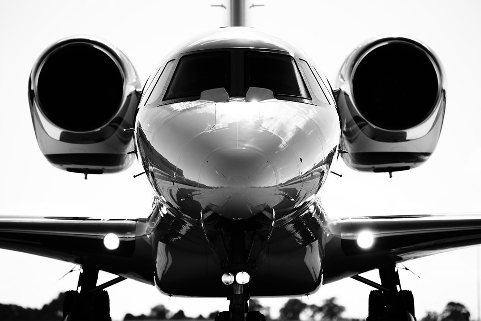 Citation X silhouette