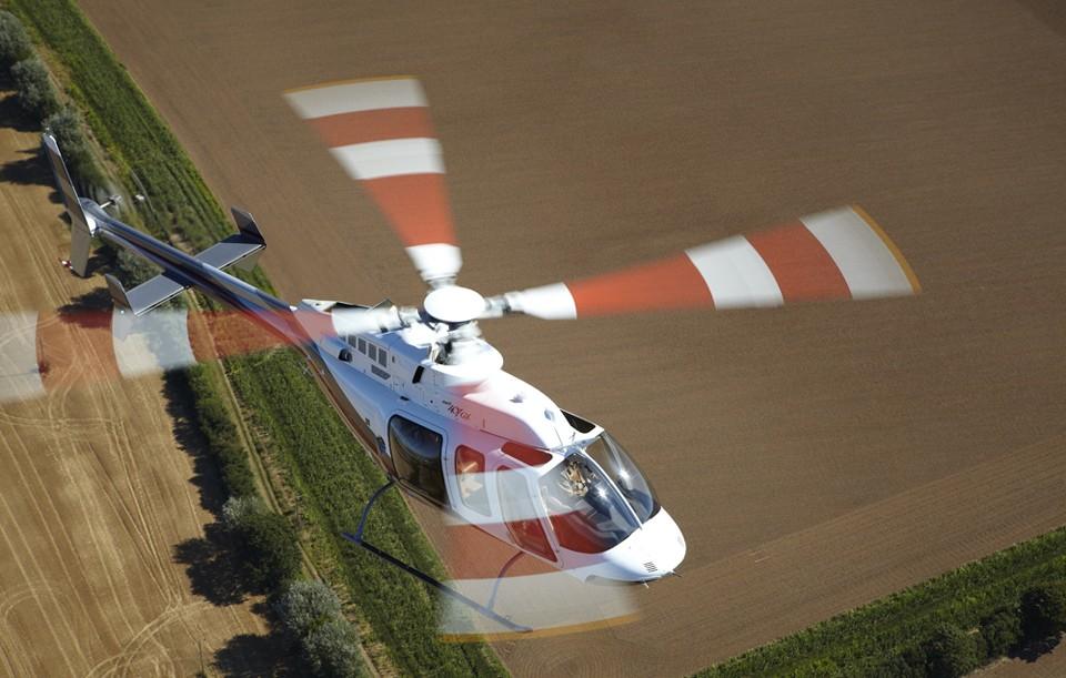 Test flight Bell 407 Kent