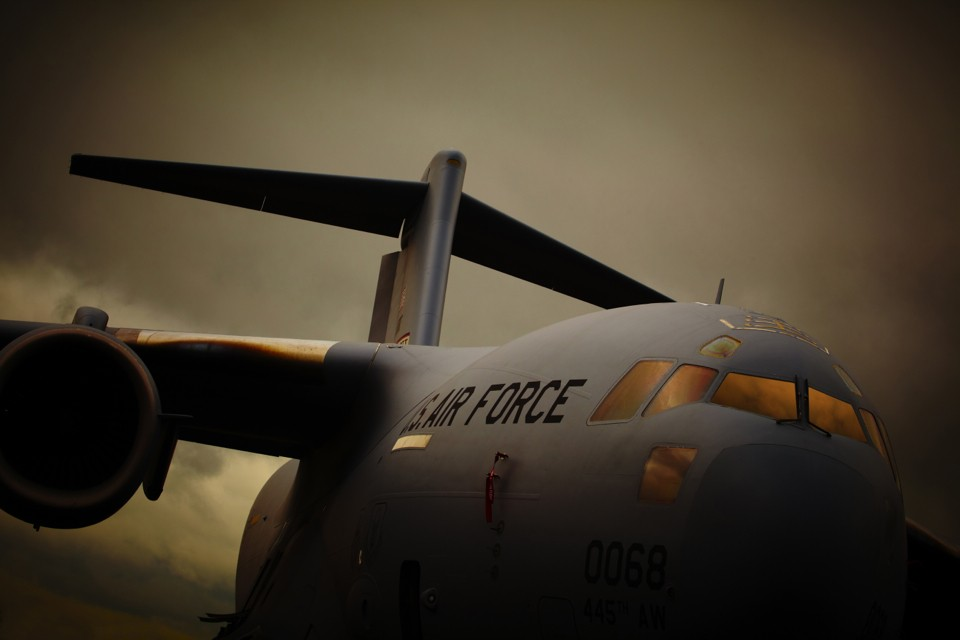 RAF Boeing Globemaster C17 III aircraft