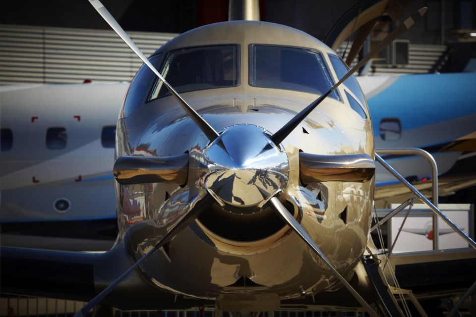 Pilatus PC 12/45 single engine passenger aircraft