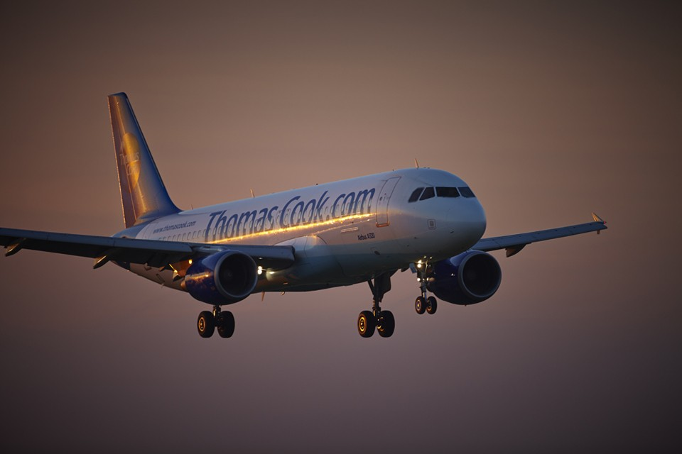 A320-241 Thomas Cook arrival